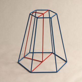 Stumpfe sechseckige Pyramide