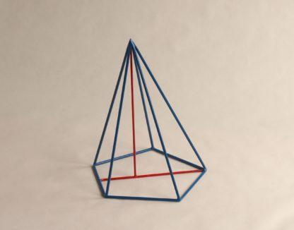 Schiefe fünfseitige Pyramide